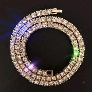 18 inch gold diamond chain